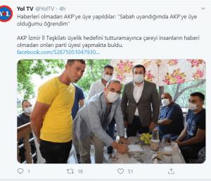 Haberleri olmadan AKP'ye üye yapıldılar