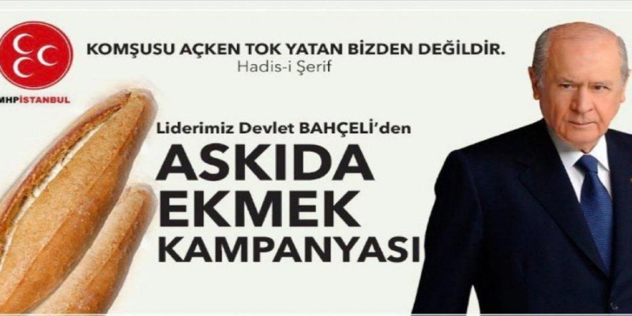 MHP genel başkanı Devlet Bahçeli'nin başlattığı ekmeğin askıya alınması kampanyası siyasetçiler ve vatandaşlarla etkileşime girdi. Türkiye içinde dolaşan milli hareketin binlerce günlük gezisi, köle konuşan vatandaşlar ve Gümüşhane'nin esnafları, MHP Genel Başkanı Devlet Bahçeli'nin çevresinde bekleyen kampanya değerlendirmesinde ekmek buldu.