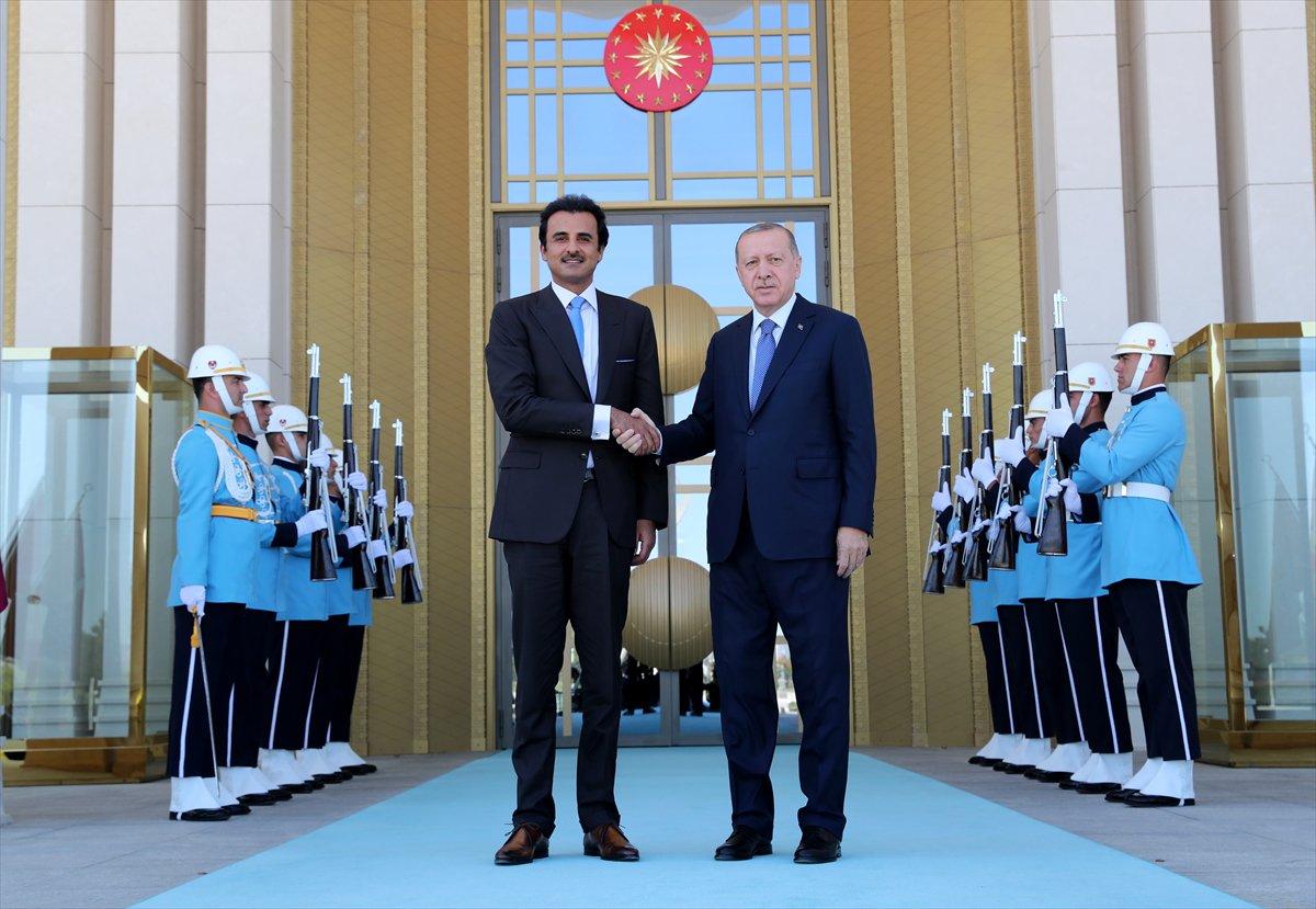 Türkiye Cumhurbaşkanı Erdoğan ile Katar Emiri arasında telefon görüşmesi