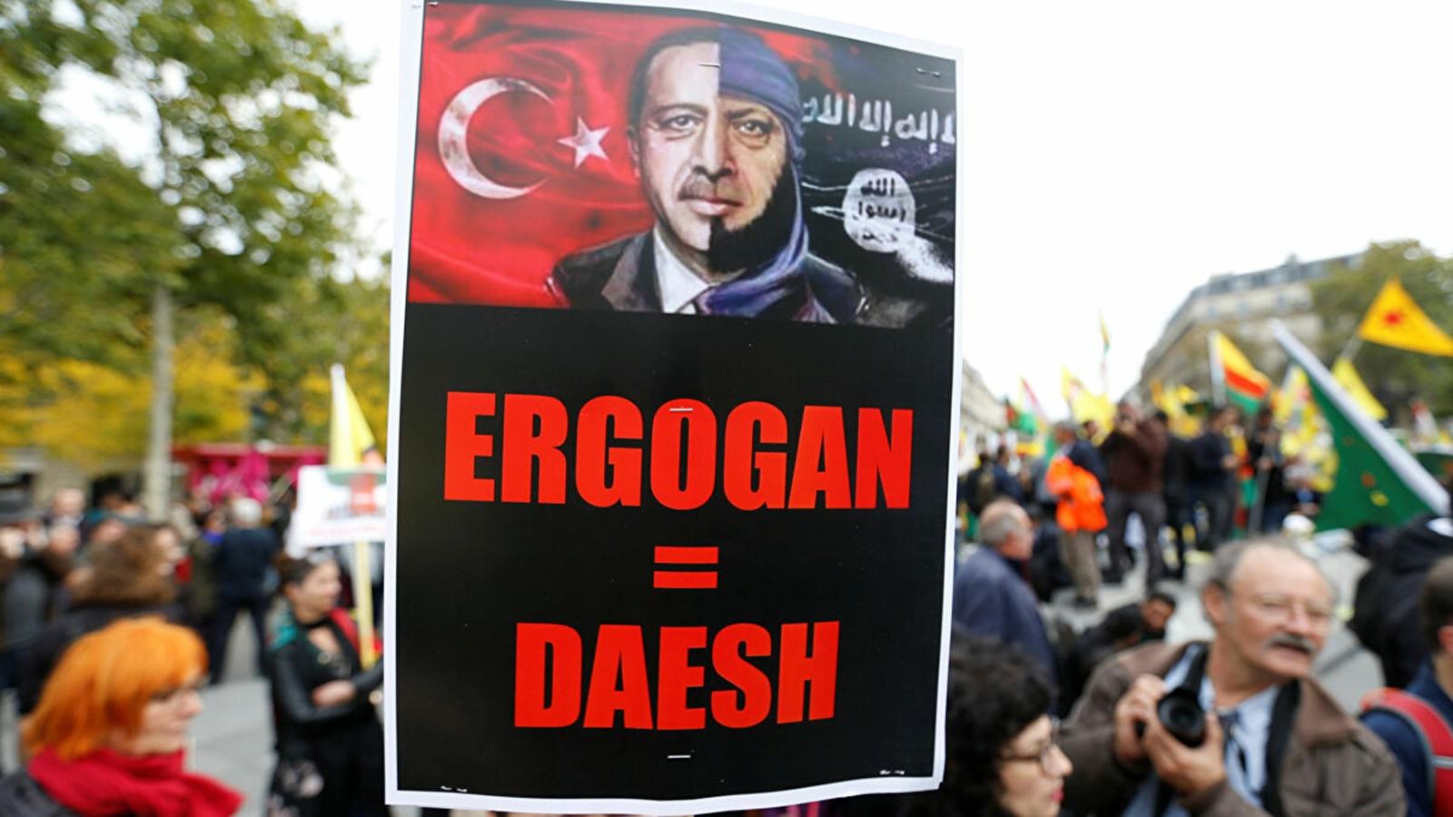 """Kuzey Irak'taki """"Türk işgaline"""" karşı Paris'te gösteri"""
