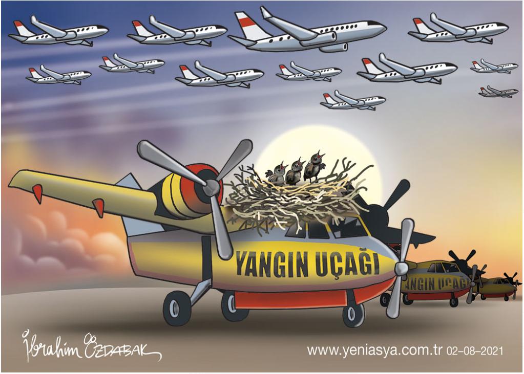 Erdoğan, Türk itfaiye uçaklarını kuş yuvasına çevirdi!