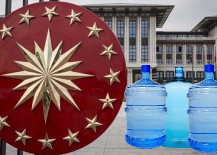 Erdoğan Sarayı içme suyuna 187 milyon lira harcadı